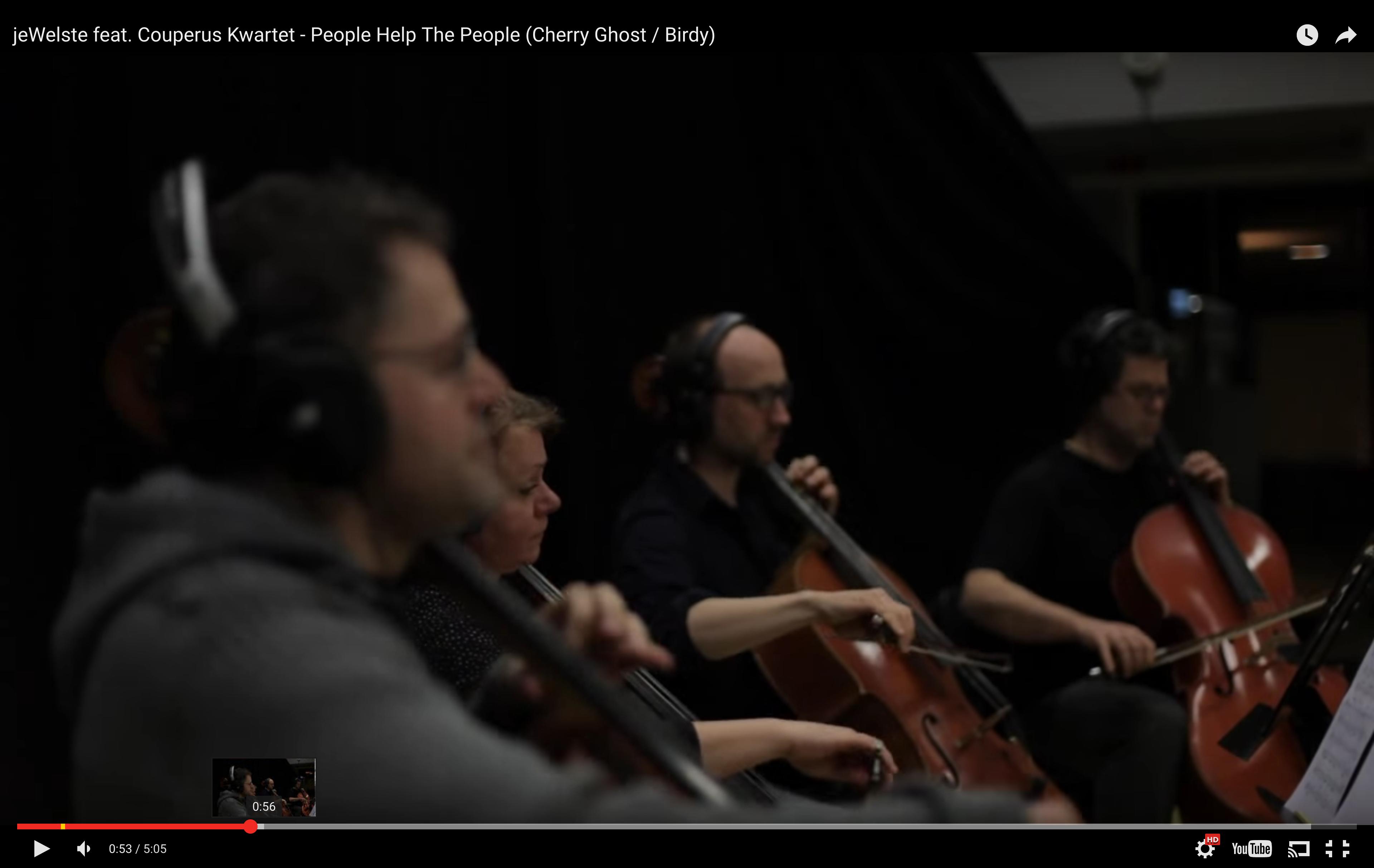 jeWelste feat  Couperus Kwartet - People Help The People